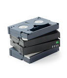 Mini pila de los casetes de DV Foto de archivo libre de regalías