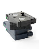 Mini pila de los casetes de DV Imagenes de archivo