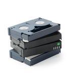 Mini pile de cassettes de DV photo libre de droits
