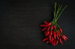 Mini pimentas de pimentão encarnados Imagens de Stock