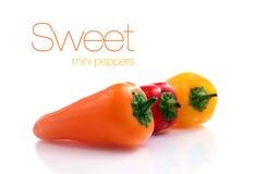 Mini pimientas dulces Foto de archivo