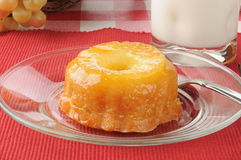 Mini pineapple upside down cake Royalty Free Stock Photography