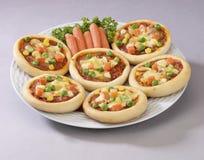 Mini pizza Fotografia de Stock