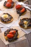 Mini pizza Imagem de Stock