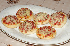 Mini pizza Imagens de Stock