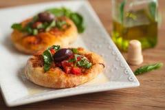 Mini Pizza Stock Foto
