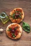 Mini Pizza Fotografía de archivo libre de regalías