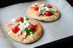Mini pizza Imagen de archivo libre de regalías