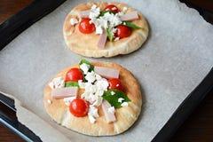 Mini pizza Fotos de archivo libres de regalías