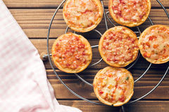 Mini pizza Fotografia de Stock Royalty Free