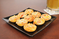 Mini pizza bagels Royalty Free Stock Image