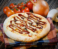 Mini pizza chicken BBQ Royalty Free Stock Image