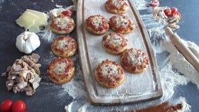 Mini pizza cooking and prepare, Italian cuisine