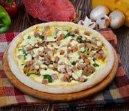 Mini pizza 3 de la carne Fotografía de archivo libre de regalías