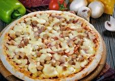 Mini pizza de la carne Foto de archivo libre de regalías