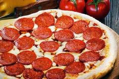 Mini pizza di merguez 2 Immagini Stock