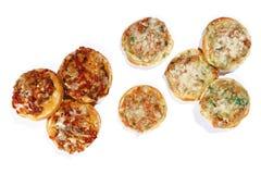 Mini pizza différente Image stock