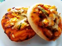 Mini Pizza Image Fotografía de archivo