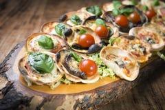 Mini Pizza Stock Photo