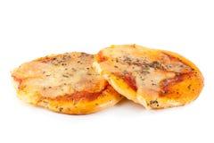 Mini pizza isolated on white.  Stock Image