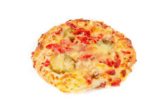 Mini pizza isolated on white.  Stock Photography