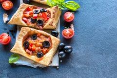 Mini pizza italiana Immagini Stock