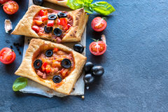 Mini pizza italienne Images stock