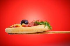 Mini pizza Stock Photography