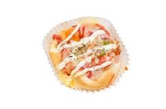 Mini pizza over white Royalty Free Stock Photo