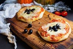 Mini pizza para los niños Imagen de archivo libre de regalías