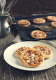 Mini pizza with pepperoni. Royalty Free Stock Photography