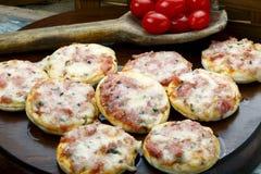 Mini pizza Stock Photos