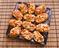Mini pizza sandwiches Royalty Free Stock Photos
