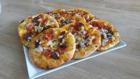 Mini pizza Royalty Free Stock Images