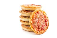 Mini pizza Stock Images