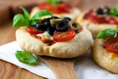 Mini pizzas Stock Image