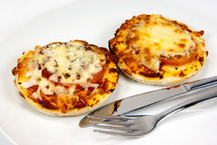 Mini pizzas Stock Photos