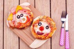 Mini pizzas Fotos de archivo