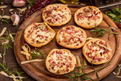 Mini pizzas Royalty Free Stock Photo