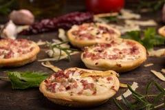 Mini pizzas Stock Image