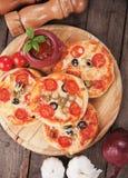Mini pizzas Royalty Free Stock Photo