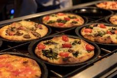Mini Pizzas at Mercado de San Miguel Stock Photos