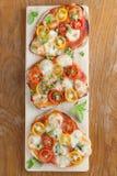 Mini pizzas Royalty Free Stock Photography