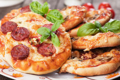 Mini pizzas Royalty Free Stock Images