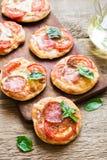Mini Pizzas Royalty Free Stock Image