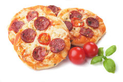 Mini pizzas Stock Photography