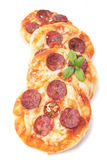 Mini pizzas Royalty Free Stock Photography