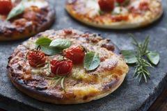Mini pizze obraz stock