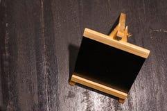 Mini placa do quadro-negro ou do menu imagens de stock royalty free