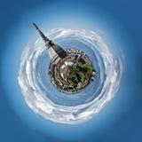 Mini planet or globe of Turin city center, in Stock Image